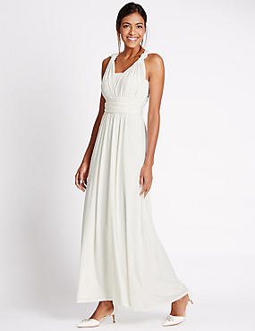 Multiway Strap Maxi Dress, IVORY, catlanding