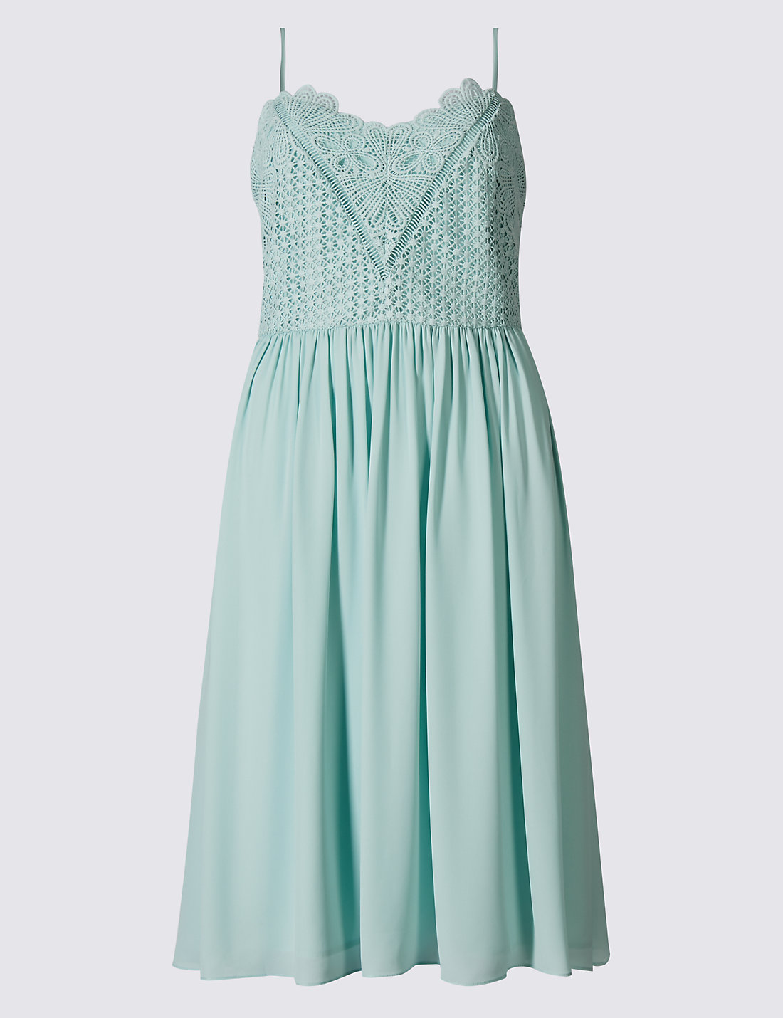Marks and spencer green lace dress
