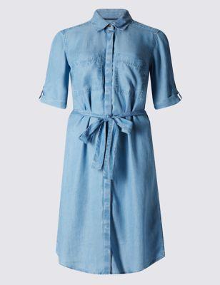 Платье-рубашка из лиоцелла