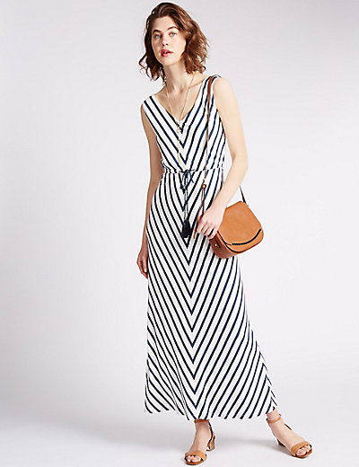 Striped Maxi Dress | M&S