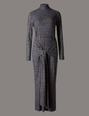 Платье-туника с узлом
