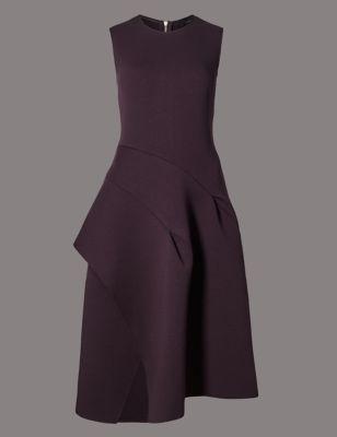 Приталенное расклешённое платье с асимметричным дизайном Autograph T426871