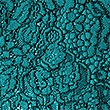 Cotton Blend Lace Swing Dress, TEAL, swatch