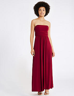 Multiway Strap Maxi Dress, RED, catlanding