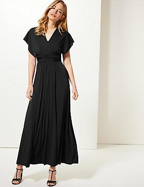 Multiway Strap Maxi Dress, BLACK, catlanding