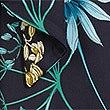 Floral Print Long Sleeve Midi Dress, NAVY MIX, swatch