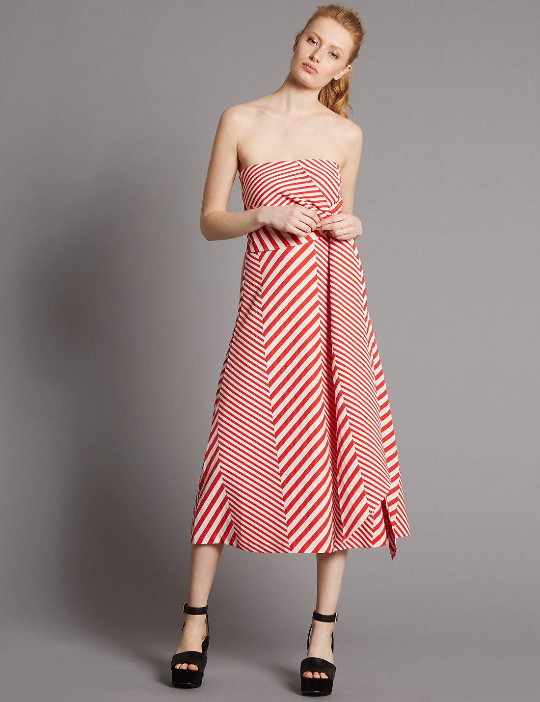 Cotton Blend Skater Dress