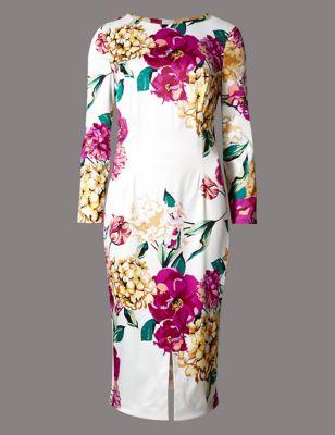 """Платье-бодикон """"Весенние мотивы"""" с рукавом 3/4 Autograph T428015T"""