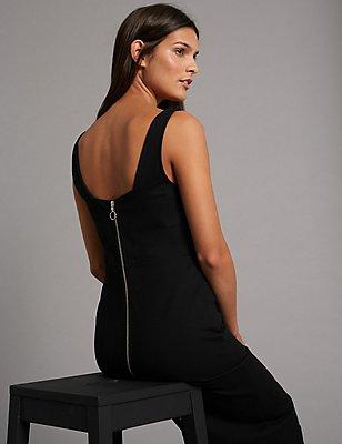 Bodycon Midi Dress, BLACK, catlanding