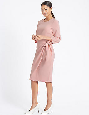 Bow Detail Bodycon Maxi Dress, PINK, catlanding