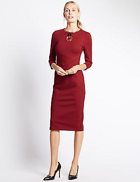 Bodycon Dress, LACQUER RED, catlanding