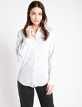 Spotted Perfect Shirt, WHITE MIX, catlanding