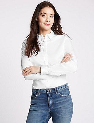 Longline Work Shirt, WHITE, catlanding