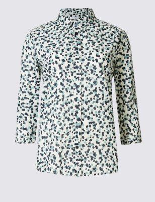 "Рубашка из чистого хлопка с принтом ""пятнышко"" Classic T432233"