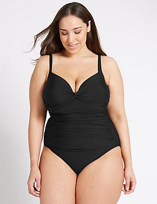 PLUS Secret Slimming™ Swimsuit, BLACK, catlanding