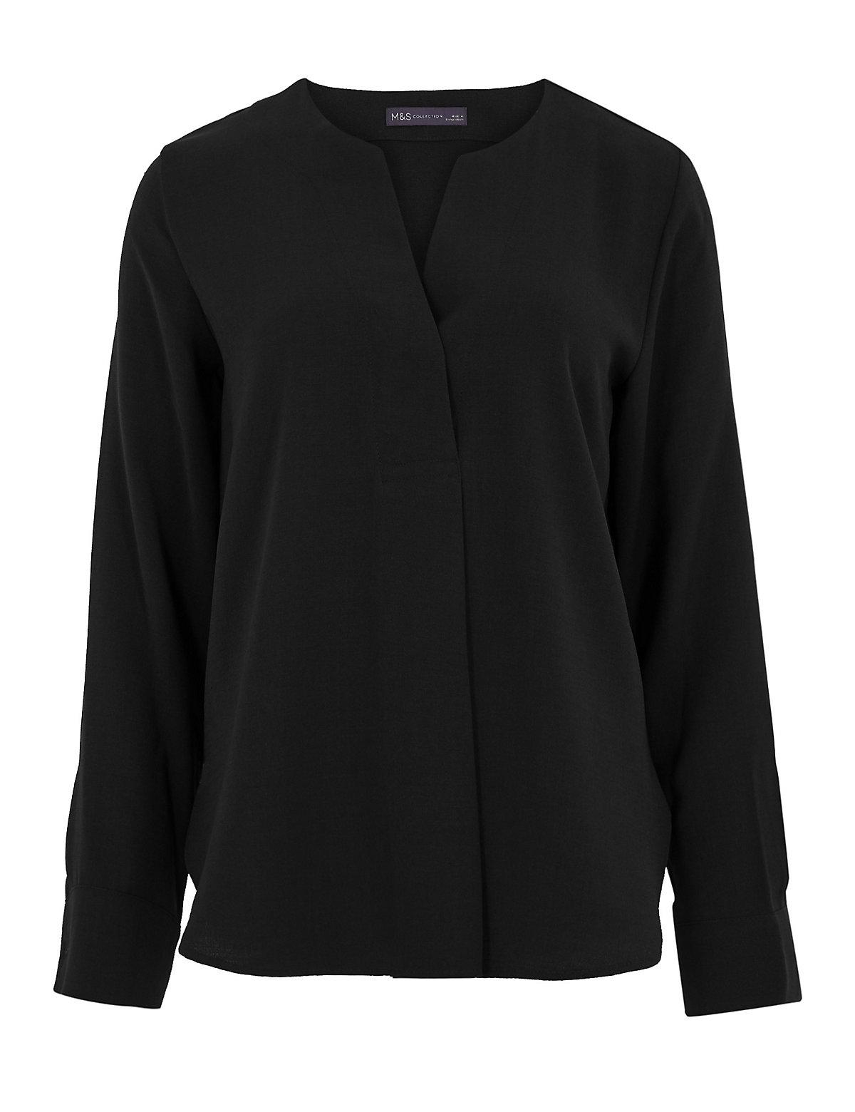 Блузка с длинным рукавом на пуговицах