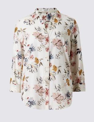 Слегка приталенная хлопковая блузка с добавлением шёлка