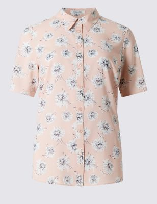 Рубашка в японском стиле с цветочным рисунком