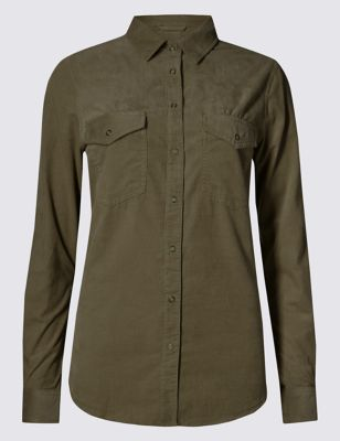 Свободная рубашка Cord из чистого хлопка