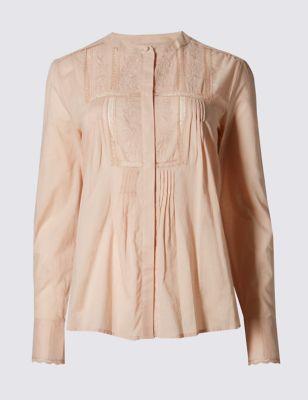Струящаяся блузка с защипами