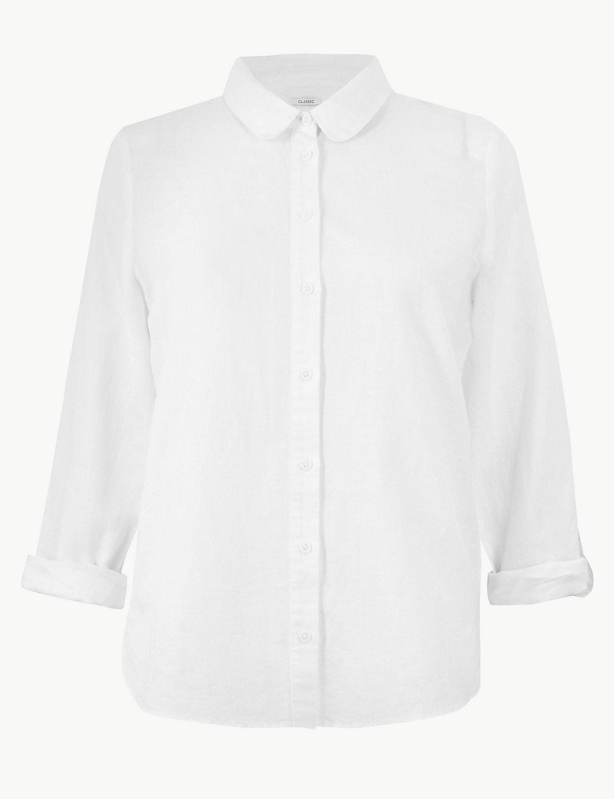 Рубашка с длинными рукавами и пуговицами