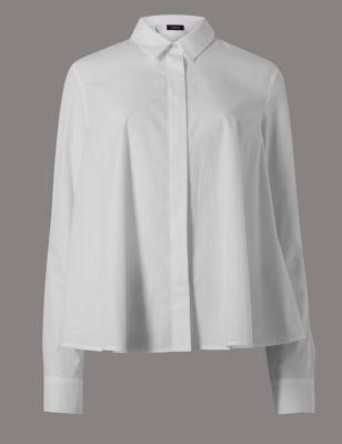 Рубашка-трапеция из чистого хлопка Autograph T435276R