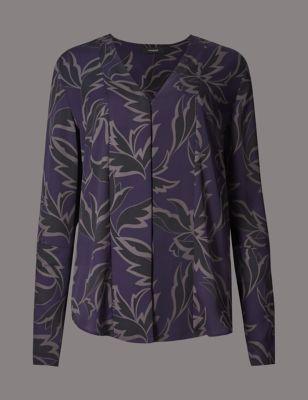 Блузка с растительным графическим принтом Autograph T435278