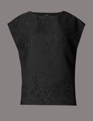 Жаккардовая блузка с цветочным рисунком Autograph T435279R