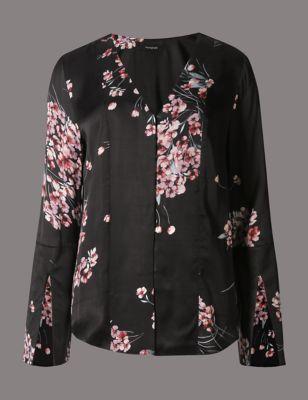 "Блузка с принтом ""цветочная романтика"" Autograph T435622"