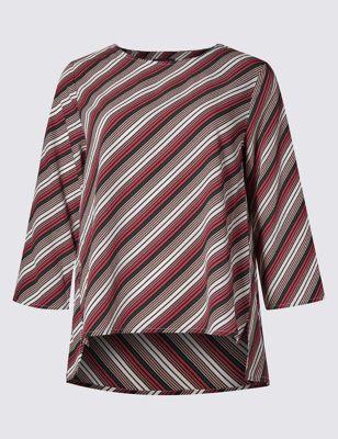 Блузка-свинг в косую полоску