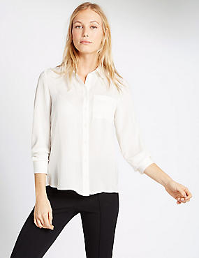 Long Sleeve Shirt, IVORY, catlanding