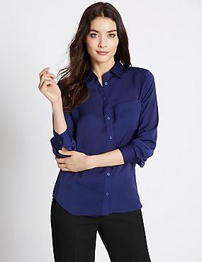 Long Sleeve Shirt, RICH BLUE, catlanding