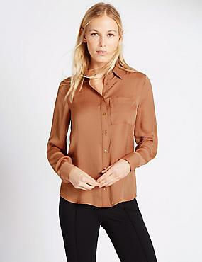 Long Sleeve Shirt, BRONZE, catlanding