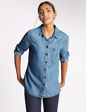 Long Sleeve Shirt, DENIM, catlanding