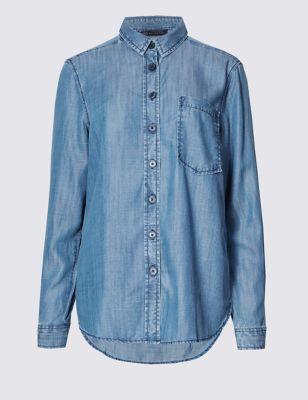 Рубашка слим из лиоцелла M&S Collection T436500
