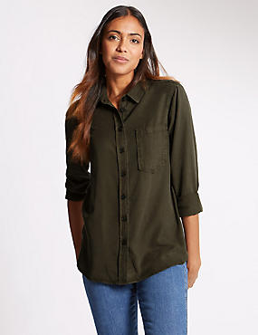 Long Sleeve Shirt, KHAKI, catlanding