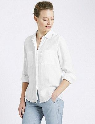 Pure Linen Shirt, , catlanding
