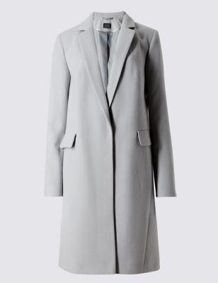 Классическое пальто свободного кроя с английским воротником