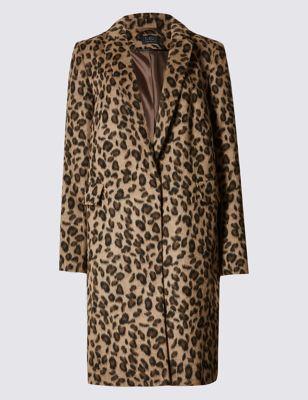 Пальто с леопардовым принтом M&S Collection T490924