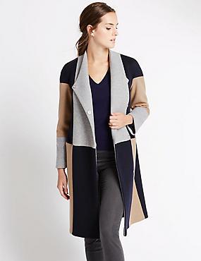Colour Block Blanket Coat with Stormwear™, MULTI, catlanding