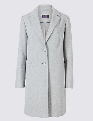 2 Pocket Wool Rich Coat, LIGHT GREY, catlanding