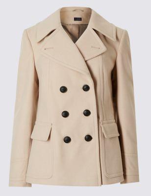 Слегка приталенное пальто пикот от Marks & Spencer