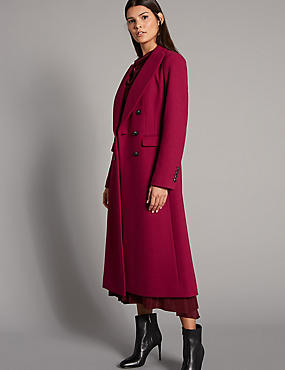 Wool Blend Coat, CRIMSON, catlanding