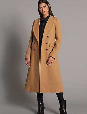 Wool Blend Coat, CAMEL, catlanding