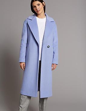 Wool Blend Coat, LILAC, catlanding