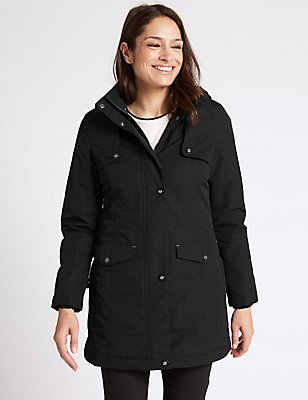 Hooded Parka with Stormwear™, BLACK, catlanding