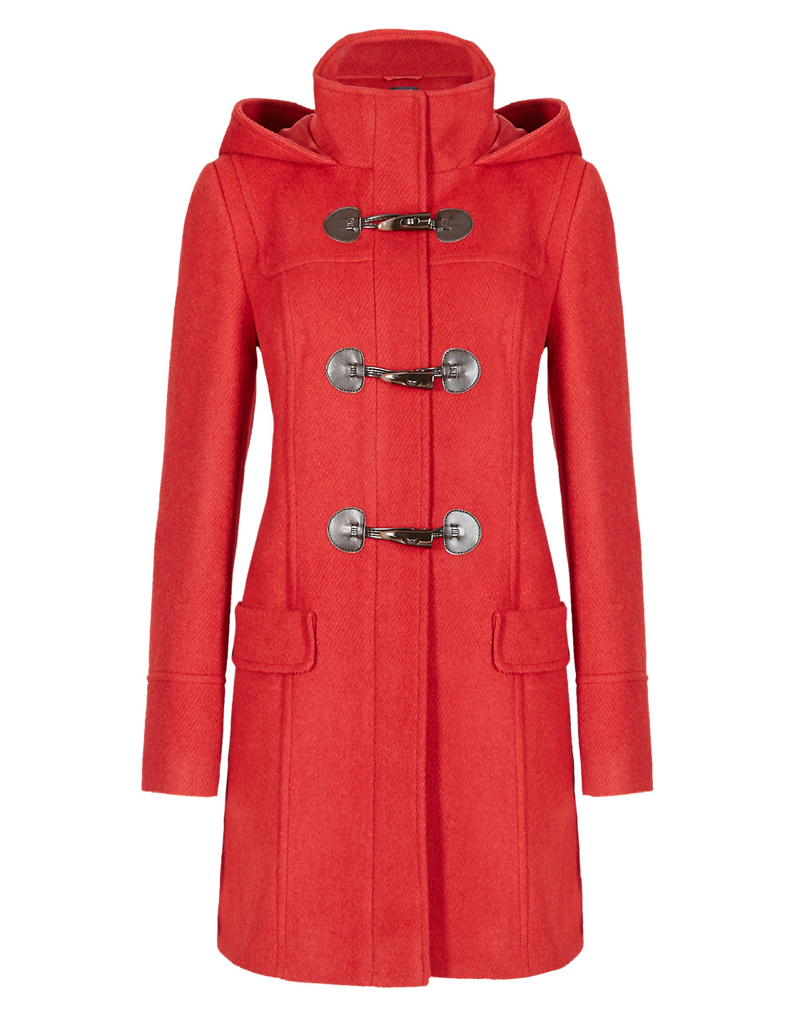 Hooded Duffle Coat with Wool | M&S