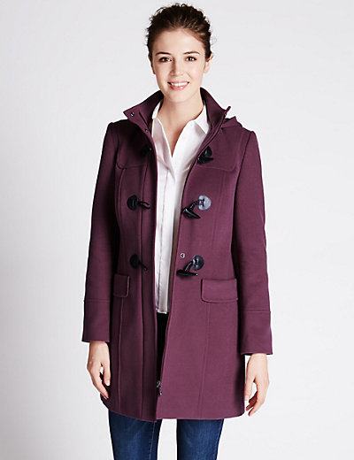 Hooded Duffle Coat | M&S