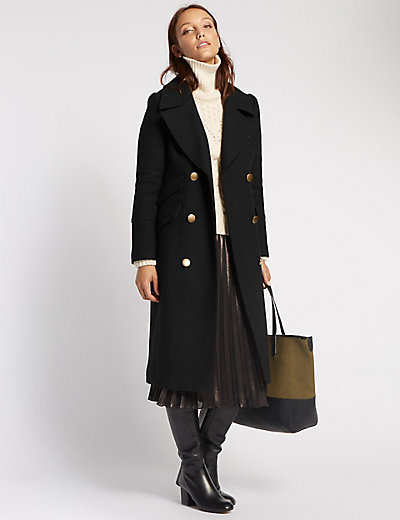 Military Long Coat | M&S