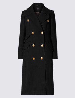 Слегка приталенное пальто в стиле милитари M&S Collection T491405